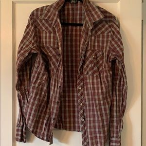 Oversized western flannel